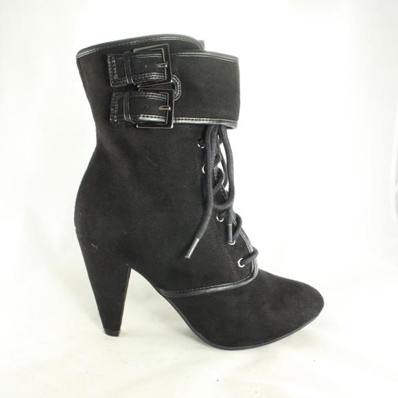 84de49f4420b FIONI Lace Up Double Strap Ankle Boots Size 6.5